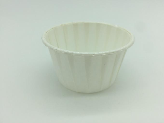 White PET Baking Cups Round Shape Varous Sizes Disposable PE Coated Film
