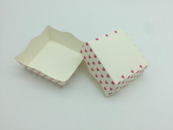 Pink Square Muffin Paper Liners Red And White Polka Dot