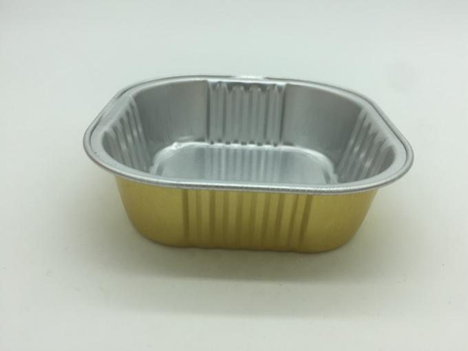 Biodegradable Aluminum Foil Cups Gold Colored Foil Cupcake