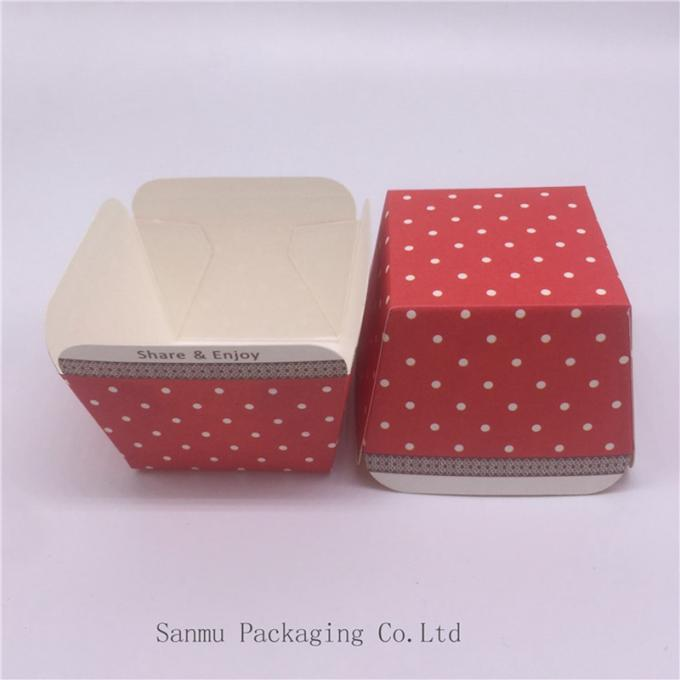 Customized Square Cupcake Liners Blue White Polka Dot Cupcake Wrappers Baking Cup Mold