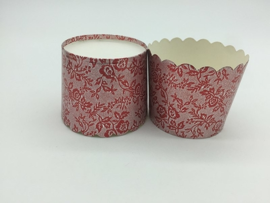 China Red Printing Laser Cut Cupcake Wrappers Disposable Baking Cups Muffin Tray supplier