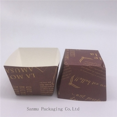 China Dark Brown Square Cupcake Liners Muffin Baking Cups Eco - Friendly SGS FDA Marked supplier
