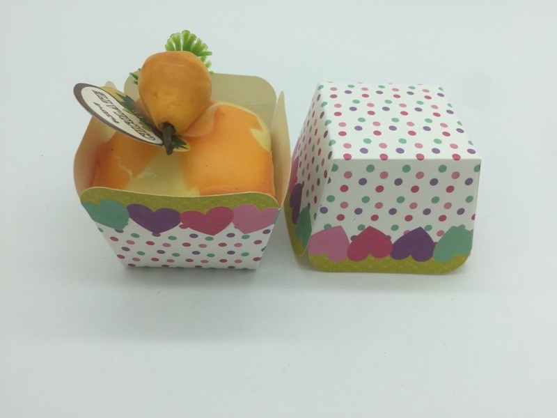 Colorful Dot Square Muffin Cases Cups Cupcake Decorating Tools ...
