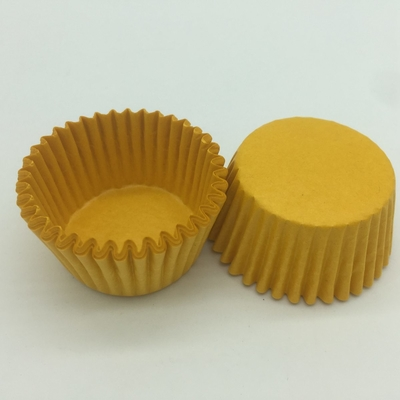 China Pumpkin Custom Cupcake Wrappers , Muffin Paper Liners Food Grade For Kid Party distributor