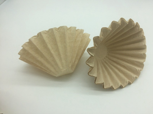 China Unbleached Paper Disposable Coffee Filters Basket Bowl Shape Pulp Paper Material  distributor