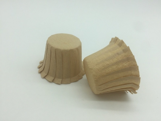 Unbleached Nature Brown Paper Coffee Filters For K Cups , Cupcake Coffee Filters