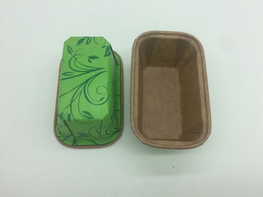 China Custom Ovenable Paper Baking Molds , Disposable Loaf Pans For Baking Home Cookie distributor